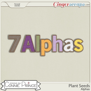 Plant Seeds - Alpha Pack AddOn by Connie Prince