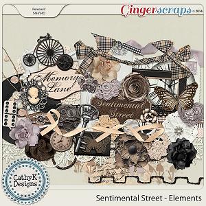 Sentimental Street Elements: by CathyK Designs
