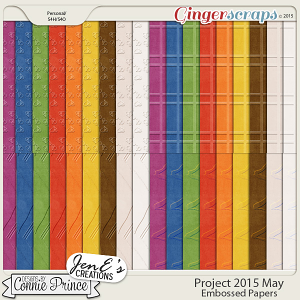 Project 2015 May - Embossed Papers