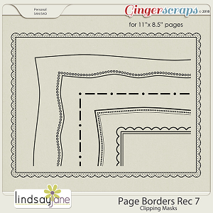 Page Borders Rec 7 by Lindsay Jane