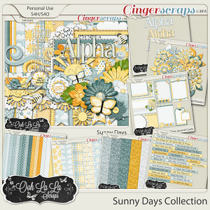 Sunny Days Digital Scrapbooking Collection