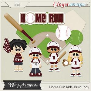 Home Run Kids- Burgundy