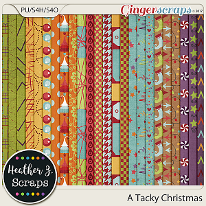 A Tacky Christmas PAPERS by Heather Z Scraps