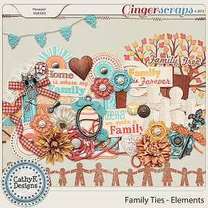 Family Ties Elements: by CathyK Designs