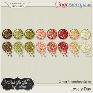 Lovely Day Glitter Photoshop Styles