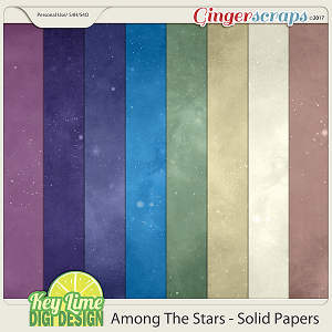 Among The Stars Solid Papers by Key Lime Digi Design