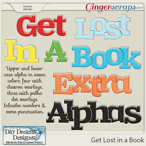 Get Lost in a Book {Extra Alphas} by Day Dreams 'n Designs