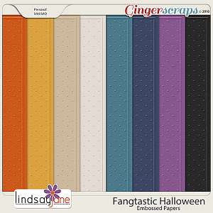 Fangtastic Halloween Embossed Papers by Lindsay Jane