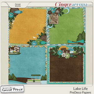 Retiring Soon - Lake Life - PreDeco Papers