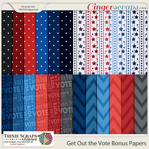 Get Out the Vote Bonus Papers by Trixie Scraps Designs