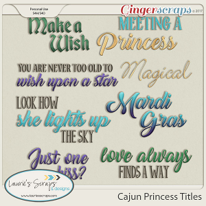 Cajun Princess Titles