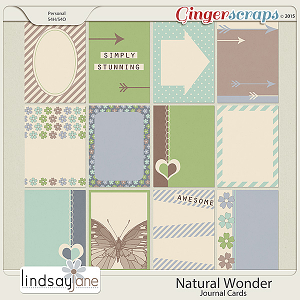 Natural Wonder Journal Cards by Lindsay Jane