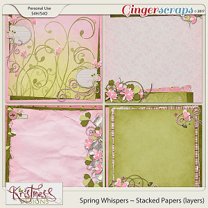 Spring Whispers Stacked Papers (layers)