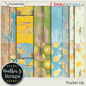 Pucker Up WEATHERED WOOD by Heather Z Scraps