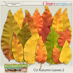 CU Autumn Leaves 2 by Clever Monkey Graphics