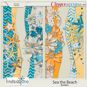 Sea the Beach Borders by Lindsay Jane