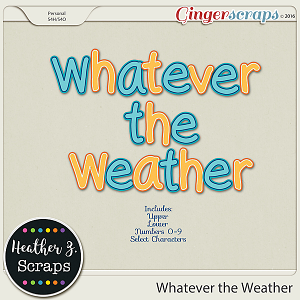 Whatever the Weather ALPHAS by Heather Z Scraps