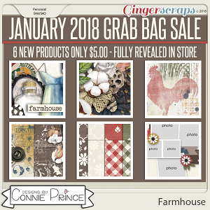 January 2018 Grab Bag - Farmhouse by Connie Prince