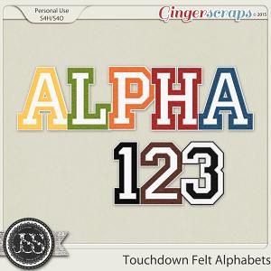 Touchdown Felt Alphabets