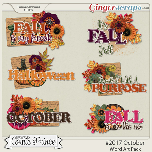 #2017 October - Word Art Pack