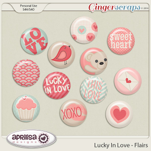 Lucky In Love - Flairs by Aprilisa Designs