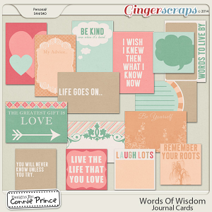Words Of Wisdom - Journal Cards