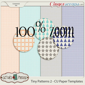 Tiny Patterns 2 CU Paper Templates - Scraps N Pieces