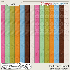 Ice Cream Social - Embossed Papers