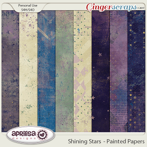 Shining Stars - Painted Papers by Aprilisa Designs