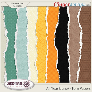 All Year {June} - Torn Papers