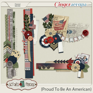 Proud To Be An American Clusters by Scraps N Pieces