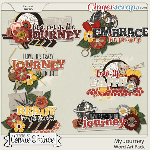 My Journey - Word Art Pack