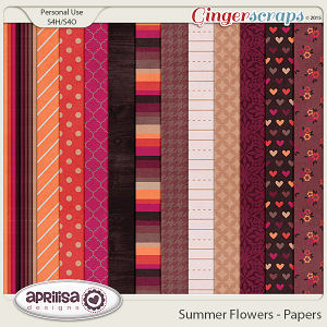 Summer Flowers - Papers by Aprilisa Designs