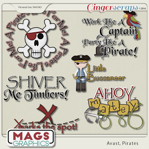 Avast, Pirates WORD ART