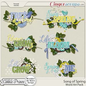 Song Of Spring - Word Art