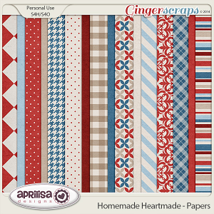 Homemade Heartmade - Papers by Aprilisa Designs