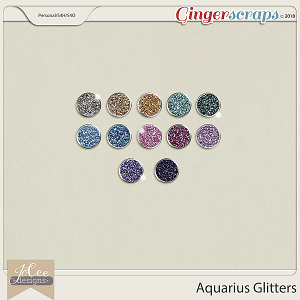Aquarius Glitters by JoCee Design