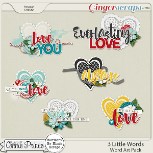 3 Little Words - WordArt Pack