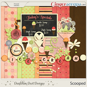 Scooped Digital Scrapbook Kit By Dandelion Dust Designs