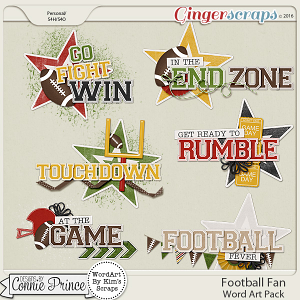 Football Fan - WordArt Pack