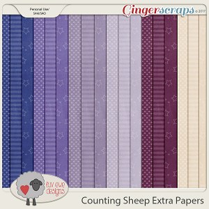 Counting Sheep Extra Papers by Luv Ewe Designs