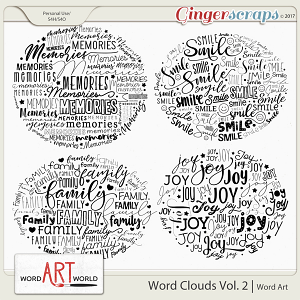 Word Clouds Vol. 2
