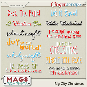 Big City Christmas SONG TITLES by MagsGraphics