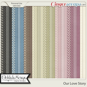 Our Love Story Pattern Papers