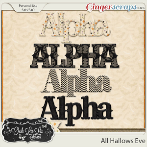 All Hallows Eve Alphabets