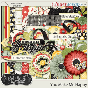 You Make Me Happy Digital Scrapbooking Kit