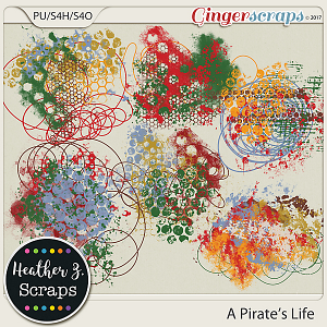 A Pirate's Life PAINT AND SCRIBBLES by Heather Z Scraps