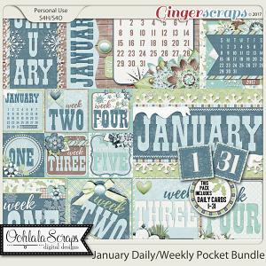January Daily Pocket Scrap Cards Bundle