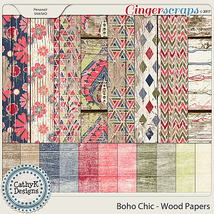 Boho Chic - Wood Papers