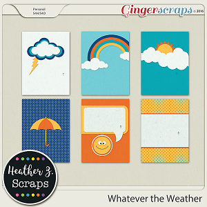 Whatever the Weather JOURNAL CARDS by Heather Z Scraps